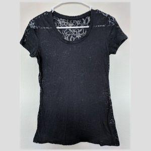 Indigo Transparent Sheer Black T-Shirt